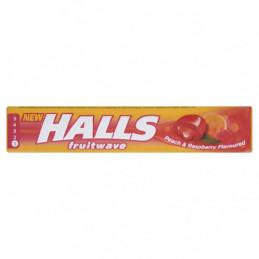 HALLS FRUITWAVE PEACH &...