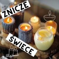 Znicze, wkłady, świece